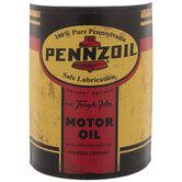 Pennzoil Half Oil Can Metal Wall Decor