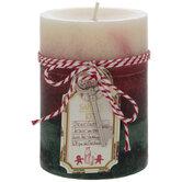 Santa's Cookies Layered Pillar Candle