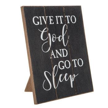 Give It To God Wood Decor