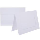 White Photo Frame Cards & Envelopes - A7