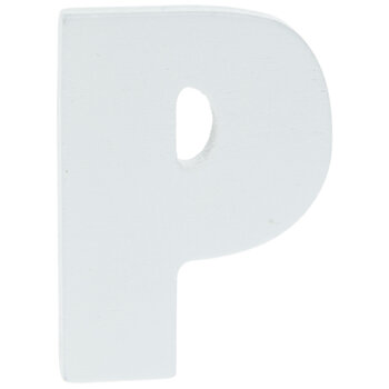 """White Wood Letters P - 2"""""""