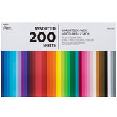 """Assorted Cardstock Paper Pack - 8 1/2"""" x 11"""""""