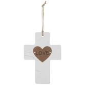 Love Marble Wall Cross