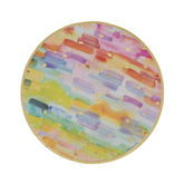 Rainbow Watercolor Paper Plates