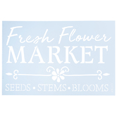 Fresh Flower Market Stencil