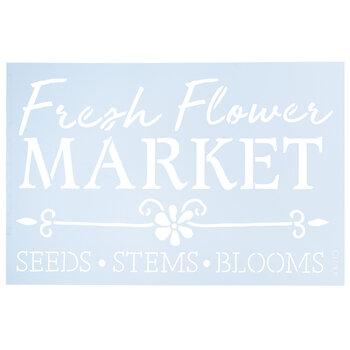 Fresh Flower Market Stencil