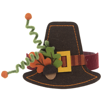 Brown Pilgrim Hat Headband