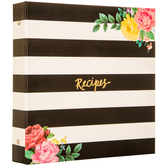 Floral & Striped Recipe Organizer