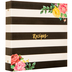 Floral & Striped Recipe Organizer