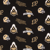 Purdue Allover Collegiate Cotton Fabric