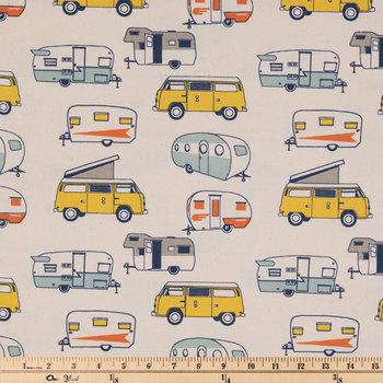 Vintage Camper Duck Cloth Fabric