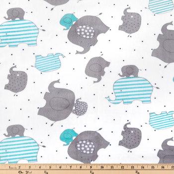 Elephant Minky Plush Fabric