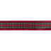 Red & Green Plaid Wired Edge Ribbon - 1 1/2