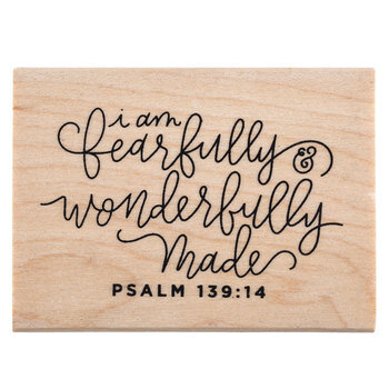 Psalm 139:14 Rubber Stamp