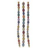 Coated Oval Glass Bead Strands