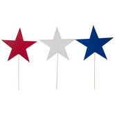Red, White & Blue Star Yard Signs