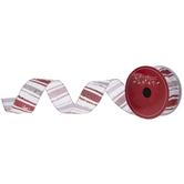 """Candy Cane Polka Dot Single-Face Satin Ribbon - 1 1/2"""""""