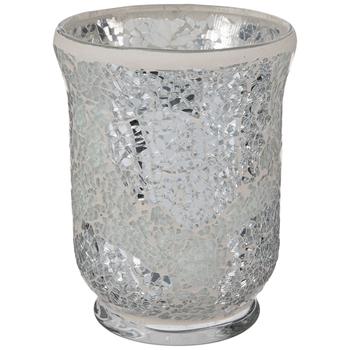Mosaic Hurricane Glass Candle Holder
