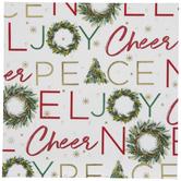 Christmas Phrases & Wreaths Napkins