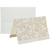 Burlap & Lace Thank You Cards