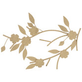Gold Floral Branch Metal Wall Decor