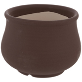 Matte Brown Round Flower Pot