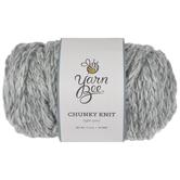 Light Grey Yarn Bee Chunky Knit Yarn