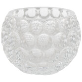 Bubble Roly Poly Glass Candle Holder