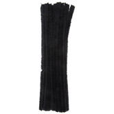 Black Chenille Stems - 15mm