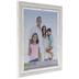 Distressed White Beveled Wall Frame - 11