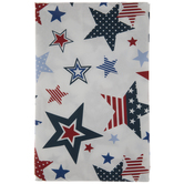 White, Blue & Red Stars Table Cloth