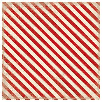 "Red & Cream Diagonally Striped Scrapbook Paper - 12"" x 12"""