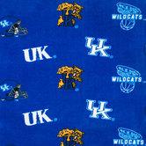 Kentucky Allover Collegiate Fleece Fabric