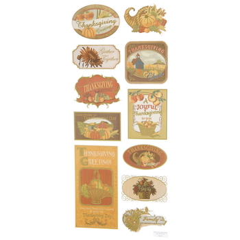 Thanksgiving Foil Stickers