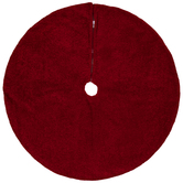Red Faux Fur Tree Skirt