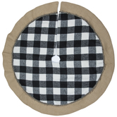 Buffalo Check & Burlap Tree Skirt