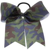 Camo Grosgrain Bow Hair Tie