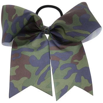 Camo Grosgrain Bow Hair Tie