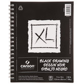 "Black XL Drawing Pad - 7"" x 10"""