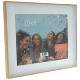 """Matte Gold Metal Frame - 10"""" x 8"""""""