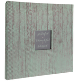 "Mint Distressed Polka Dot Post Bound Scrapbook Album - 12"" x 12"""