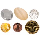 Golden Tone Acrylic Bead Mix