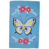 Blue Butterfly & Floral Kitchen Towel