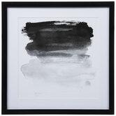 Black Watercolor Framed Wall Decor