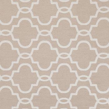 Quatrefoil Spike Linen Fabric
