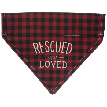 Rescued & Loved Dog Bandana