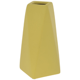 Matte Yellow Geometric Vase