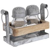 Wood Farmhouse Salt & Pepper Shakers