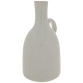 White Cracked Glaze Vase