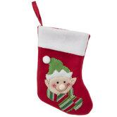 Mini Red Elf Stocking